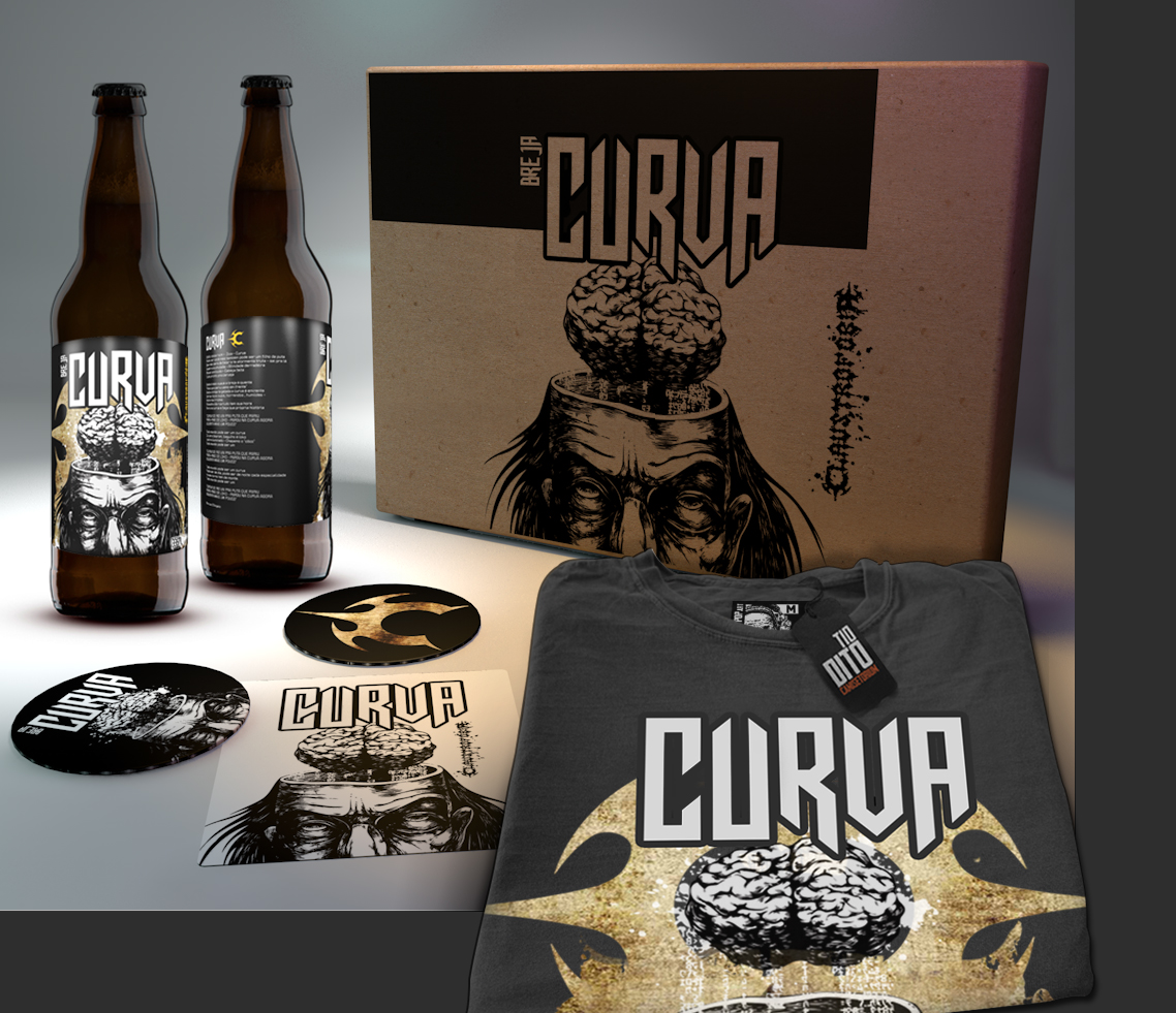 Kit da nova cerveja Curva do Claustrofobia