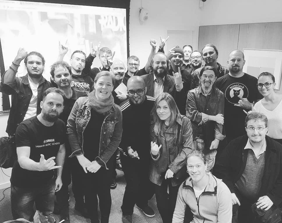 Coletiva de imprensa dos projetos Capital of Metal e Bad Samba na Embaixada da Finlândia no Brasil.
