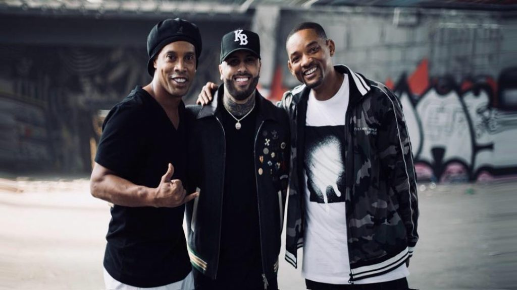 Nicky Jam, Will Smith e Ronaldinho Gaúcho